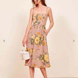 Reformation rosehip dress Antoinette 0 XS NWT